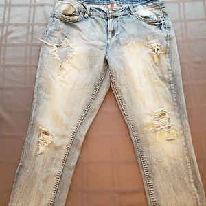 Bongo, distressed, cropped jeans